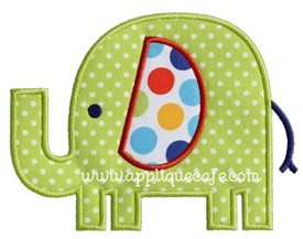 Elephant 4 Applique Design