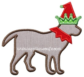 Elf Dog Applique Design