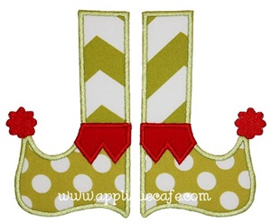 Elf Feet Applique Design