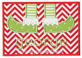 Elf Feet Patch Applique Design