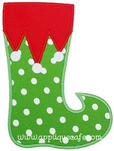 Elf Stocking Applique Design