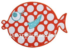 Fat Fish Applique Design