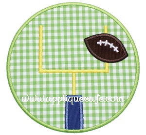 Field Goal Patch Applique Design