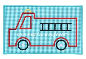 Fire Truck Patch Applique Design