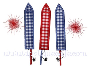 Fireworks Applique Design
