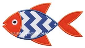 Fish 3 Applique Design