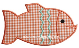 Fish 4 Applique Design