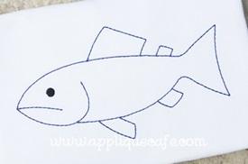 Fish 5 Embroidery Design