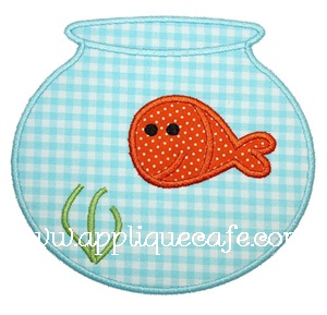 Fish Bowl Applique Design