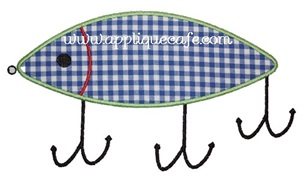 Fishing Lure1 Applique Design
