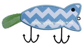 Fishing Lure 2 Applique Design