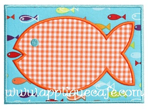 Fish Patch Applique Design