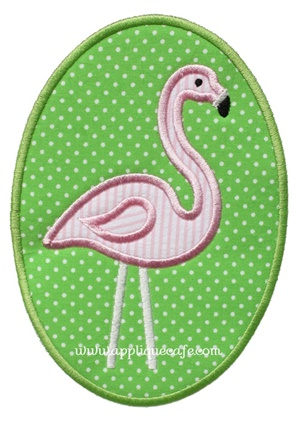 Flamingo Patch Applique Design