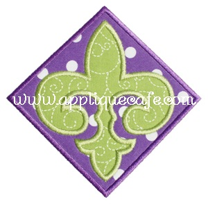 Fleur-de-lis Patch Applique Design