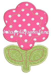 Flower 4 Applique Design