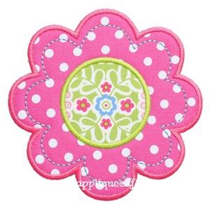 Flower 5 Applique Design