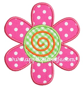 Flower 6 Applique Design