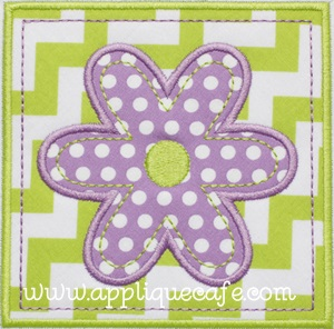 Flower Patch Applique Design