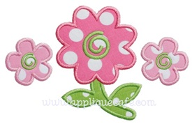 Flowers Applique Design