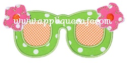 Flower Sunglasses Applique Design