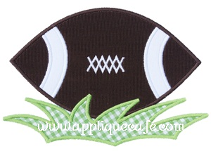 #487 Football Applique Design