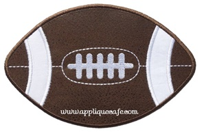 #1005 Football 4 Applique Design
