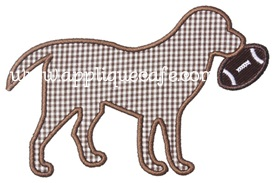 Football Dog Applique Design