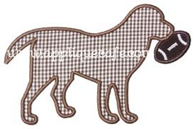 Football Dog Applique Design