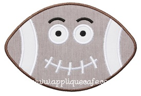 Football Face Applique Design