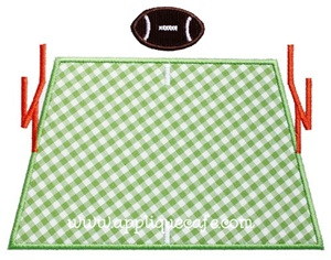 Football Field Applique Design