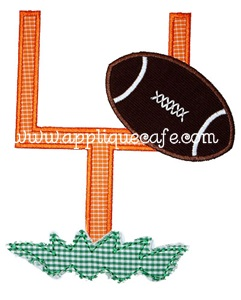 Football Goal Applique Design