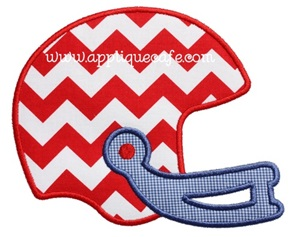 Football Helmet 2 Applique Design
