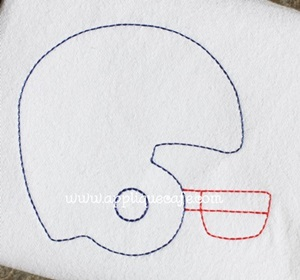Football Helmet 3 Embroidery Design