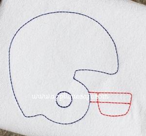 Football Helmet 3 Embroidery Design