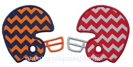 Football Helmets Applique Design