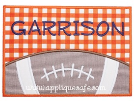Football Patch 2 Applique Design
