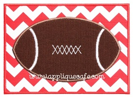 Football Patch Applique Design