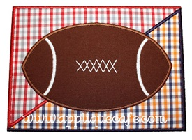 Football Patch Divided Applique Design
