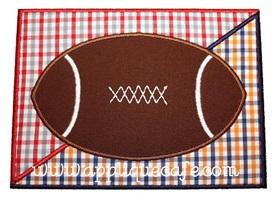 Football Patch Divided Applique Design