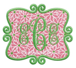 Frame Patch 9 Applique Design