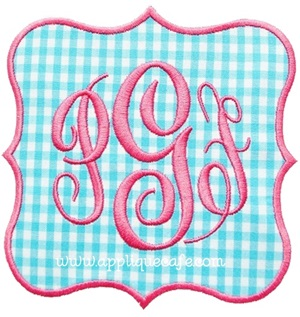 Frame Patch Applique Design
