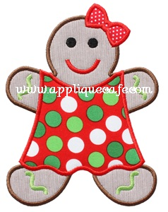 Gingerbread Girl 2 Applique Design