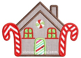 Gingerbread House 2 Applique Design