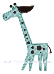 Giraffe Applique Design