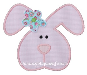 Girl Bunny 2 Applique Design