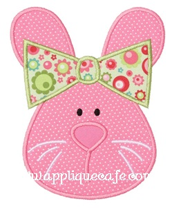 Girl Bunny Applique Design