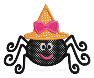 Girly Spider Applique Design