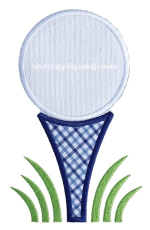 #1014 Golf Ball 2 Applique Design