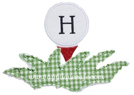 Golf Ball Applique Design