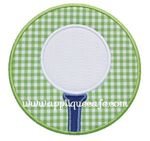 Golf Ball Patch Applique Design